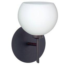 Besa Lighting 1SW-565807-BR 1X40W G9 Palla 5 Wall Sconce with Opal Matte Glass, Bronze Finish