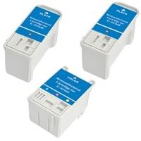 Amsahr 0T040 Remanufactured Replacement Epson Ink Cartridges for Printers/Faxes with 2 Black and 1 Color Cartridges Ink
