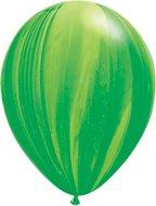 "GREEN Light SWIRL (6) 11"" Tie Tye Dye Agate Hippie LATEX Helium Quality Balloons by LGP"