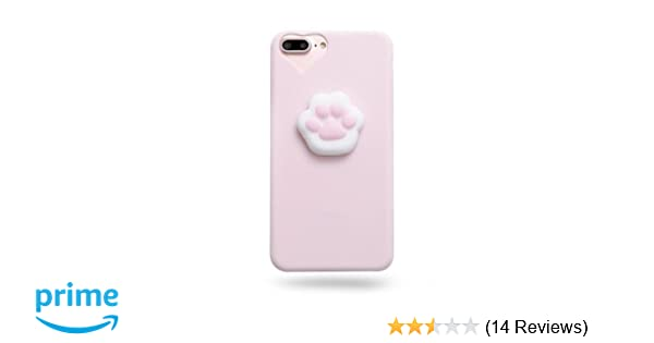 buy popular 65f09 1a38c AliPlus iPhone 8 Case, Squishy Cat Claw 3D Soft Cute Silicone TPU  Protective Phone Case for Apple iPhone 8 Plus 4.7 inch Pink