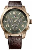 1791109 Tommy Hilfiger Leather Green Dial Mens Watch