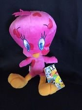 - Looney Tunes Pink Hearts Tweety Bird Big Stuffed 18