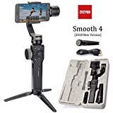 Zhiyun Smooth 4 3-Axis Handheld Gimbal Stabilizer w/Focus Pull & Zoom for Smartphone Like iPhone Xs X 8 7 Plus Android Samsung S9(White Smooth 4)