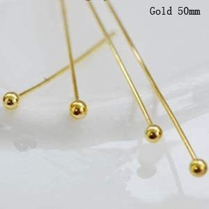 200pcs//lot Gold Silver Plated Flat Head Pins for DIY Jewelry Making Findings