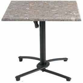 "Grosfillex 32"" Square Outdoor Table Top Only with Umbrell..."