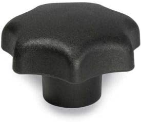 "J.W. Winco 2.48"" Diameter Plastic Hand Knob w/ 1/2""-13 Hole Size 0.87"" Hole Depth(Pack of 15)"