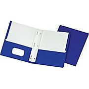 2-Pocket Paper Folders with Fasteners, Color Vary, Brand ...