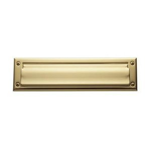 Baldwin 0012031 Letter Box Plate, Unlacquered Bright Brass by Baldwin by Top Notch Distributors, Inc. (Home Improvement) (Image #1)