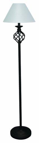 MaxLite ML6G522WI 52-Watt Fluorescent Floor Lamp, Wrought Iron 52w Compact