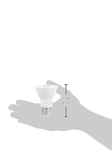 AmazonCommercial 50 Watt Equivalent, 15000 Hours, Dimmable, 500 Lumens, Energy Star Compliant, E26 Base, PAR20 LED Light Bulb - Pack of 10, Warm White