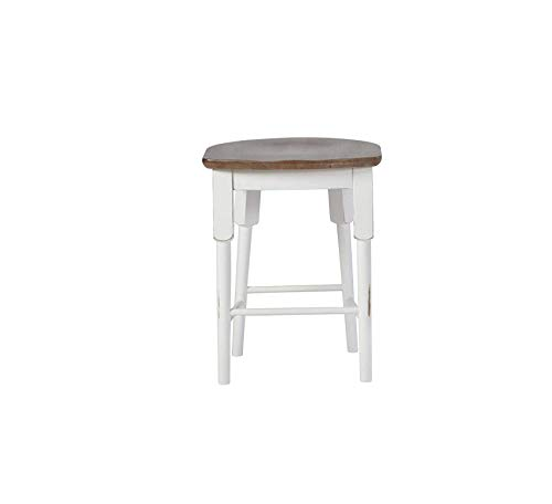 Wood & Style Furniture Shutters Counter Stool (1/Ctn), Light Oak/Distressed White Home Bar Pub Café Office Commercial