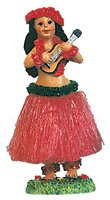(Dashboard Hula Doll Girl with Ukulele 6.5'' tall 40606 boxed - hawaii dashboard dolls - Perfect gift or souvenir - assorted colors)