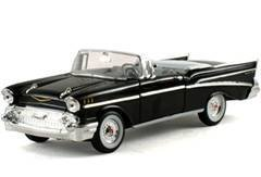 1957 Chevrolet Bel Air Convertible Black 1/32
