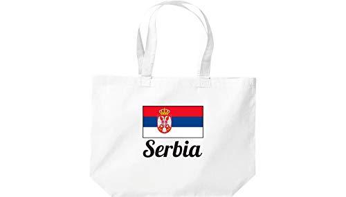 Blanc serbie Sac Grande Shopping Pays Pays Shirtinstyle serbie nCZ0AwqWX