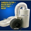 New Hydroponics 6'' Inline Duct Tube Exhaust Fan Carbon Filter Kit 440CFM