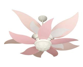 Craftmade BBL52-PNK Bloom Ceiling Fan Blades Replacement 52-Inch, Pink/White and Pink, Set of 10