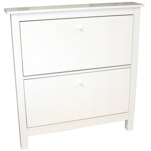 White Shoe Cabinet with 2 Drawers - Two Drawer Shoe Cabinets ...