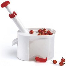 (KAMUNG Cherry Corer Container Cherry Olive Stone Seed Remover Machine Kitchen Tool)