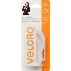 Bulk Buy: Velcro Snag Free Sew On Tape 3/4wide 36 White 90667 (3-Pack) Velcro USA Inc.