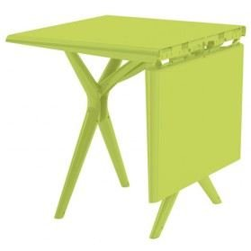 Grosfillex sigma collapsible folding table 115cm in choice - Table ronde avec chaises ...
