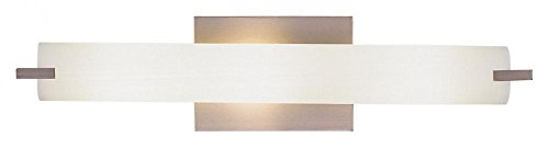 George Kovacs P5044-084, Tube, 3 Light Bath Fixture, Brushed Nickel by Kovacs