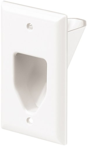 - Eaton 35M1W-SP-L 1-Gang Recessed Multimedia Cable Wall Plate, White