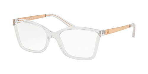 Michael Kors MK 4058 3050 Caracas Crystal Clear Plastic Rectangle Eyeglasses 54mm by Michael Kors