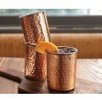 NapaStyle Set of Four Coqueta Hammered Copper Cups