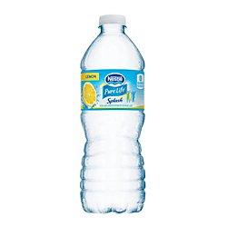 Nestle(R) Splash Water Beverages, Lemon, 16.9 Oz, Case Of 24 Bottles
