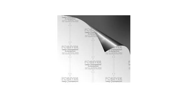 Papel Transfer Forever láser Transparent - A4 (10 Hojas) para ...
