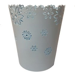 Flower Waste Bin - Color: Light Blue by babykidsbargains