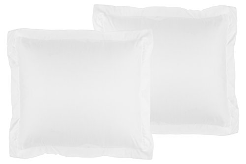 La Vie Moderne Premium 1800 Thread Count Microfiber Euro Shams (26 x 26 inch) | Set of 2 | White