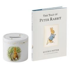 Wedgwood Peter Rabbit Christening New Money Box & Book Set