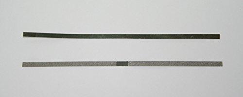 Dental Orthodontic Stainless Steel Metal Polishing Strips Single Sided Center Gap 4mm 12 strips per Box