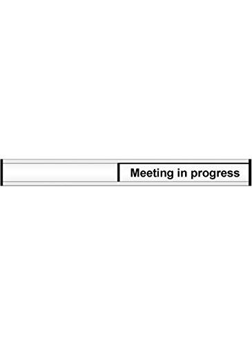Caledonia Signs 59121 Door Slider Label, 'Meeting In Progress' Meeting In Progress Caledonia Signs Ltd