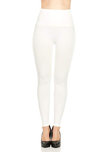 ASSETS Red Hot Label by Spanx Shaping Leggings - 2268P (1X / White) (Red Hot Label By Spanx High Waisted Leggings)
