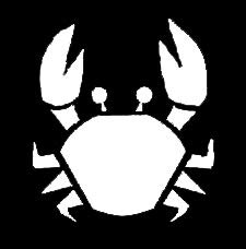 LLI Cartoon Crab | Decal Vinyl Sticker | Cars Trucks Vans Walls Laptop | White | 5.5 x 5 in | LLI1256