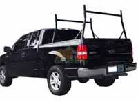 900 LB Universal Pick Up Truck Ladder Rack with Non-Drilling J Hook Clamps Pickup Rack Lumber Utility Black
