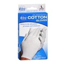 Cara 100% Dermatological Cotton Gloves Large 1 Pair by Cara
