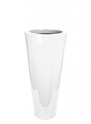 Le Present J19590.068 M White Fiber Pot Cone44; 35.4 x 15.7 in. by Le Present