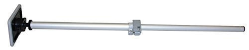 Vico Marine Extending Boat Cover Support Pole (Swedge and Snap Tip) + Rubber Pole Base