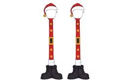 Lemax Village Collection Santa Street Lamp, set of 2 #64067