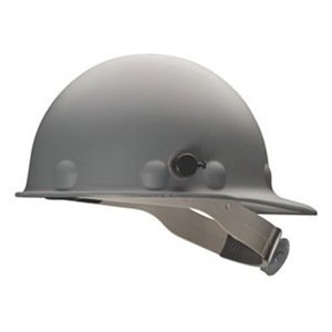Fibre-Metal Roughneck Gray Fiberglass Cap Style Hard Hat - 8-Point Suspension - Swing Strap Adjustment - Reversible Suspension, Strip-Proof - P2AQSW09A000 [PRICE is per EACH] Metal Sportswear