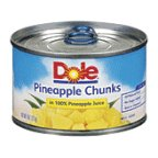 Dole Pineapple Chunks 8 OZ (Pack of 12)