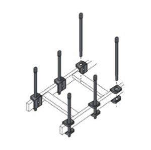(Black Box Ladder Rack Cable Retaining Post, Black)