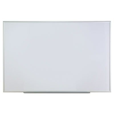 Dry Erase Board, Melamine, 72 x 48, Satin-Finished Aluminum Frame by UNIVERSAL (Catalog Category: Presentations & Meeting Supplies / Boards/Presentation) by Universal One