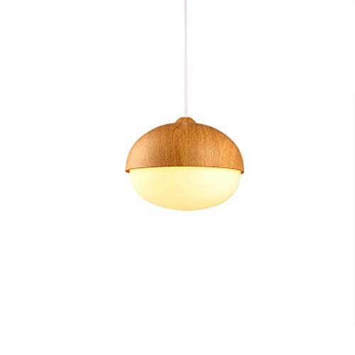 Rcircle Creative Pendant Lighting Lamp, Nuts Wood Adjustable Hanging Ceiling Lamp Fixtures for Kitchen Island Dining Table Living Room Corridor Indoor Art Decor Chandelier (Shape : C) (Creative Pendant)