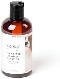 Eye Envy Tear Stain Remover Solution for Dogs | 100% Natural, Safe | Recommended by Breeders/Vets/Groomers | Contains Colloidal Silver | Remove Stains from White/Light Fur, Skin Folds