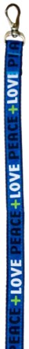 Waghearted Love and Peace Dog Leash, Blue, Large, My Pet Supplies