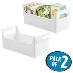 mDesign organizzatore portaoggetti da bagno per prodotti di bellezza e salute Asciugamani Bianco
